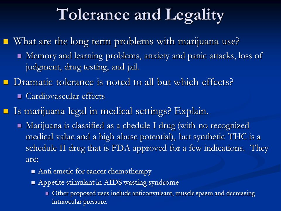 Tolerance and Legality