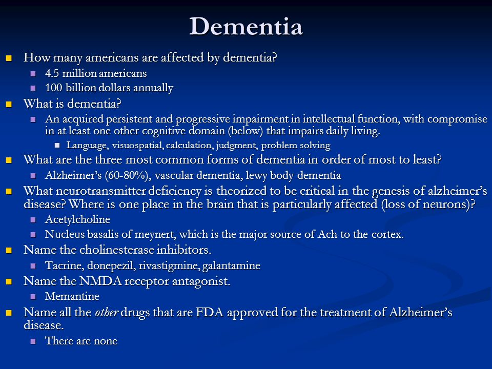 Dementia How many americans are affected by dementia