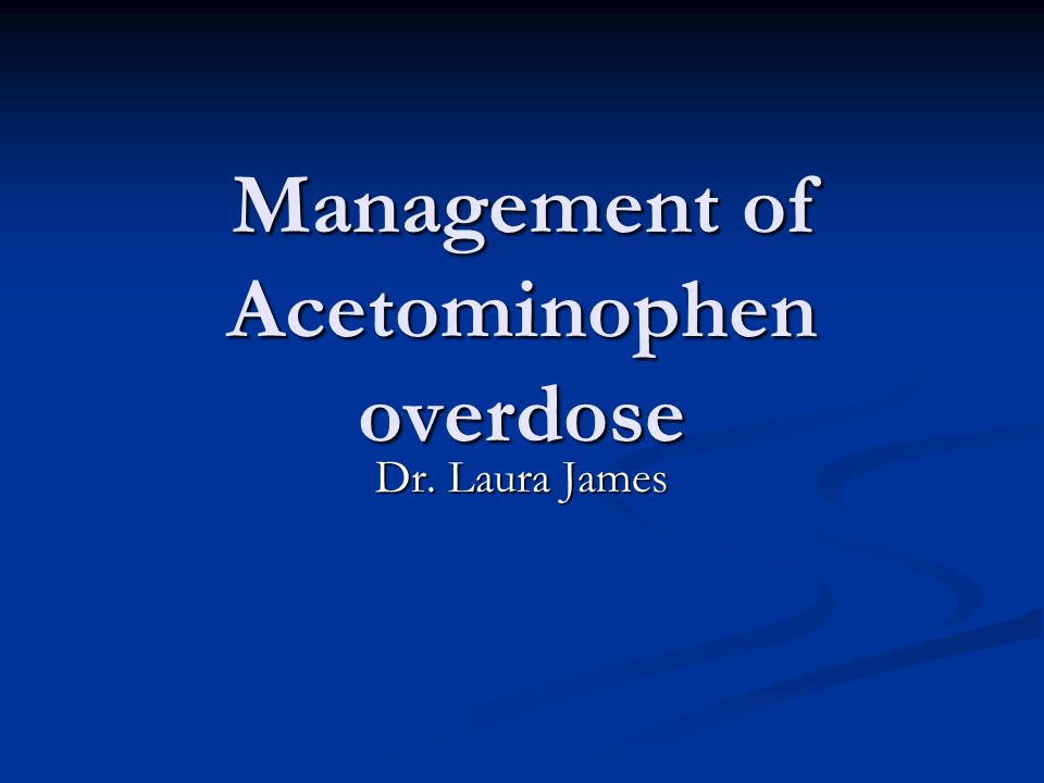 Management of Acetominophen overdose
