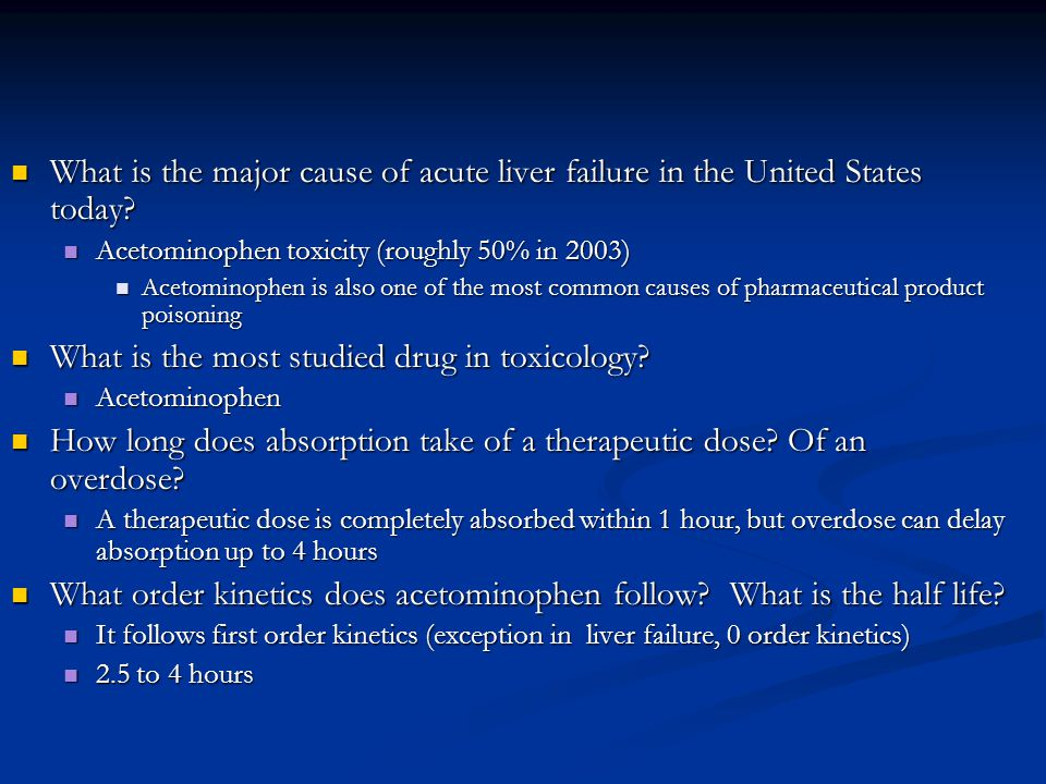 What is the most studied drug in toxicology