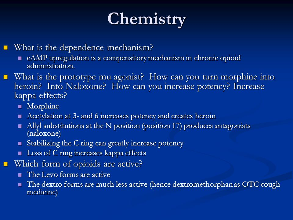 Chemistry What is the dependence mechanism