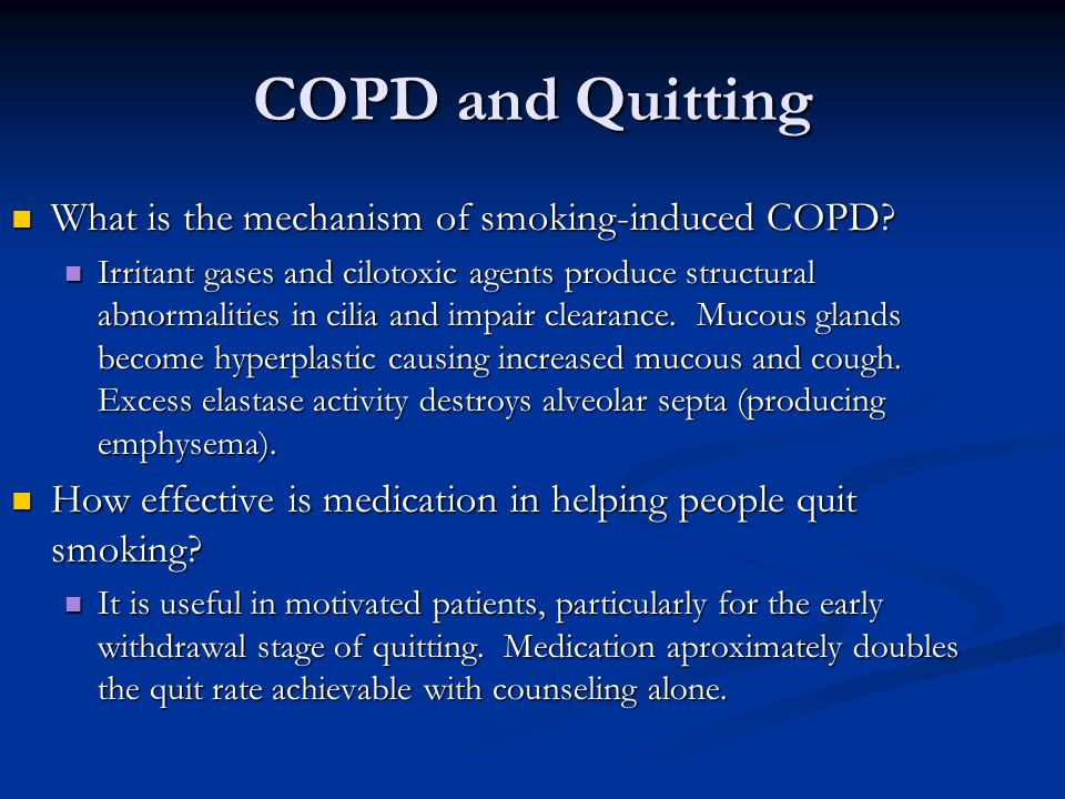COPD and Quitting What is the mechanism of smoking-induced COPD