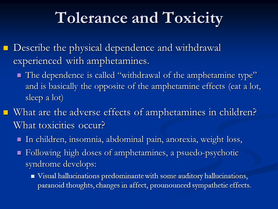 Tolerance and Toxicity
