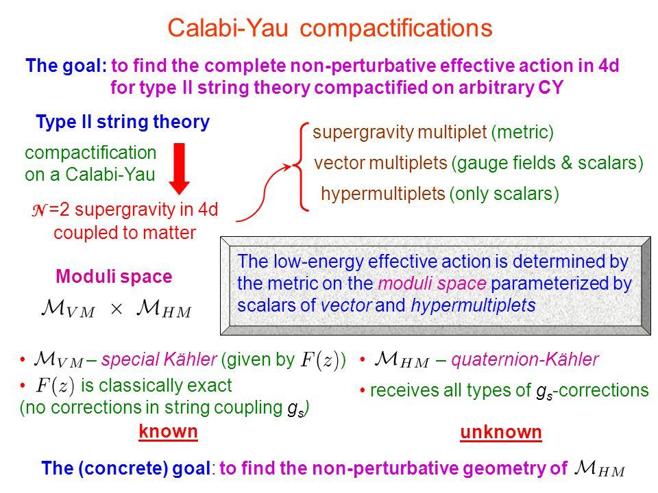 Calabi-Yau compactifications