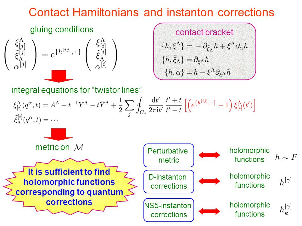 Contact Hamiltonians and instanton corrections