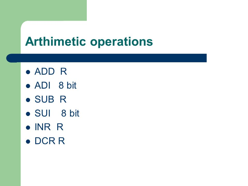 Arthimetic operations