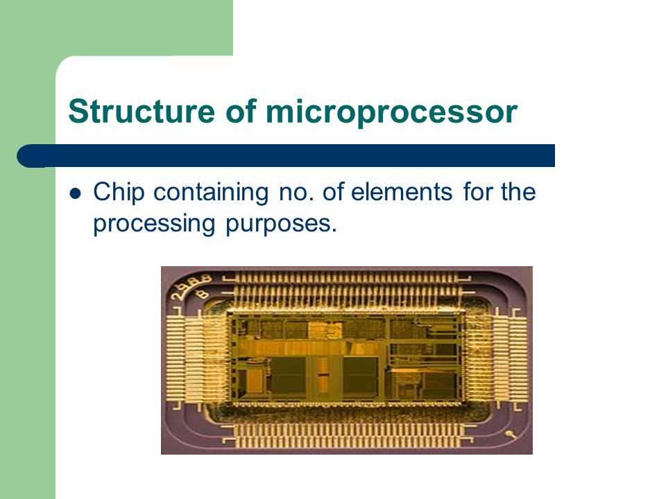 Structure of microprocessor