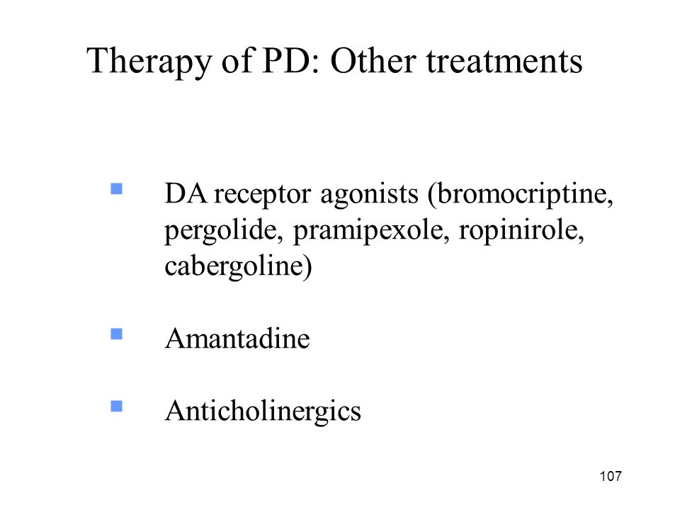 Therapy of PD: Other treatments
