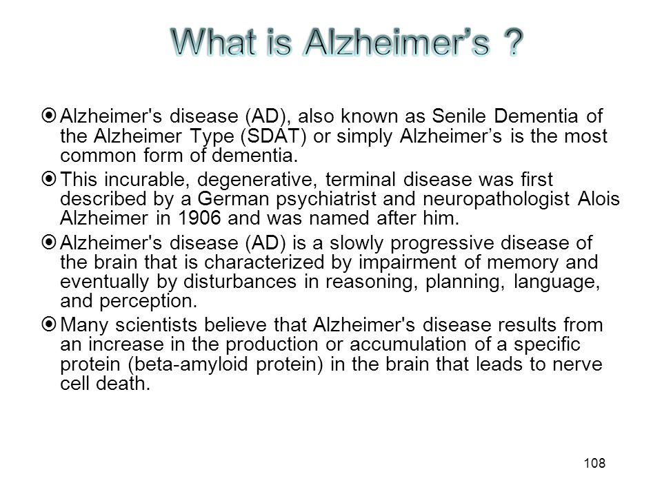 What is Alzheimer's