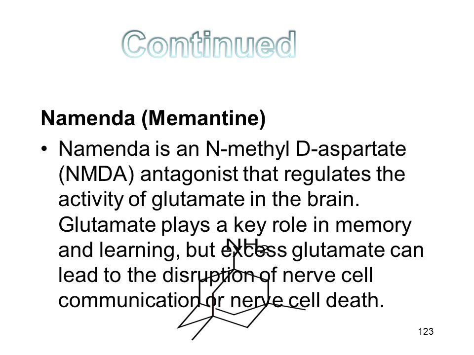Continued Namenda (Memantine)