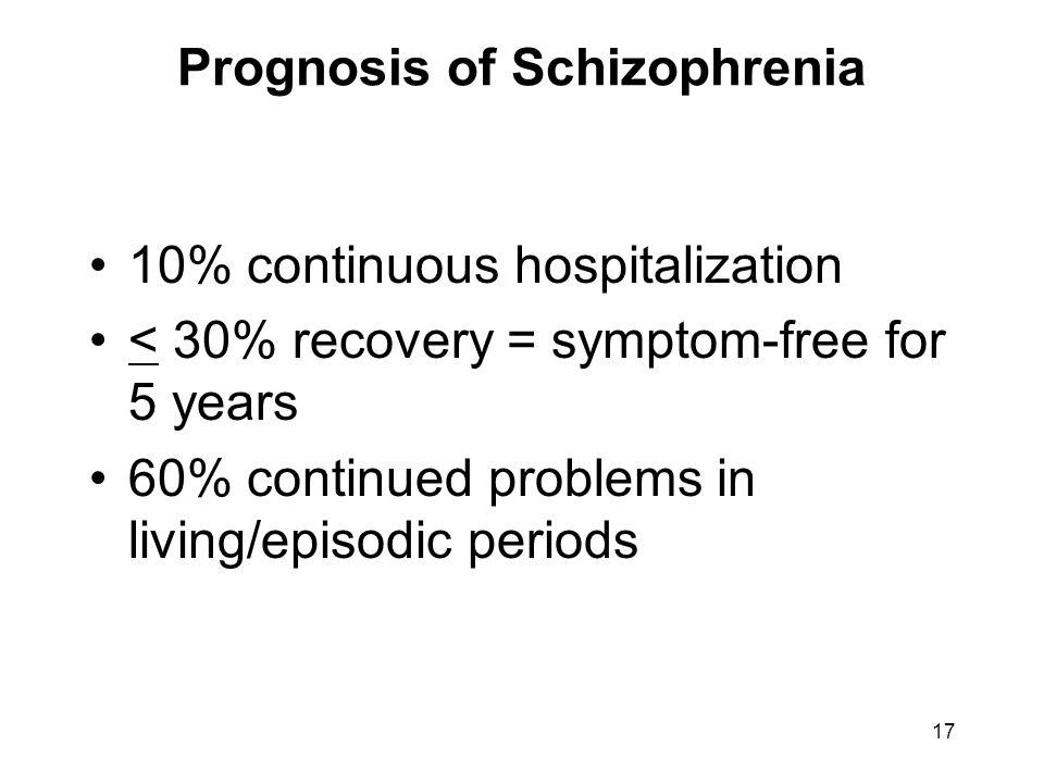 Prognosis of Schizophrenia