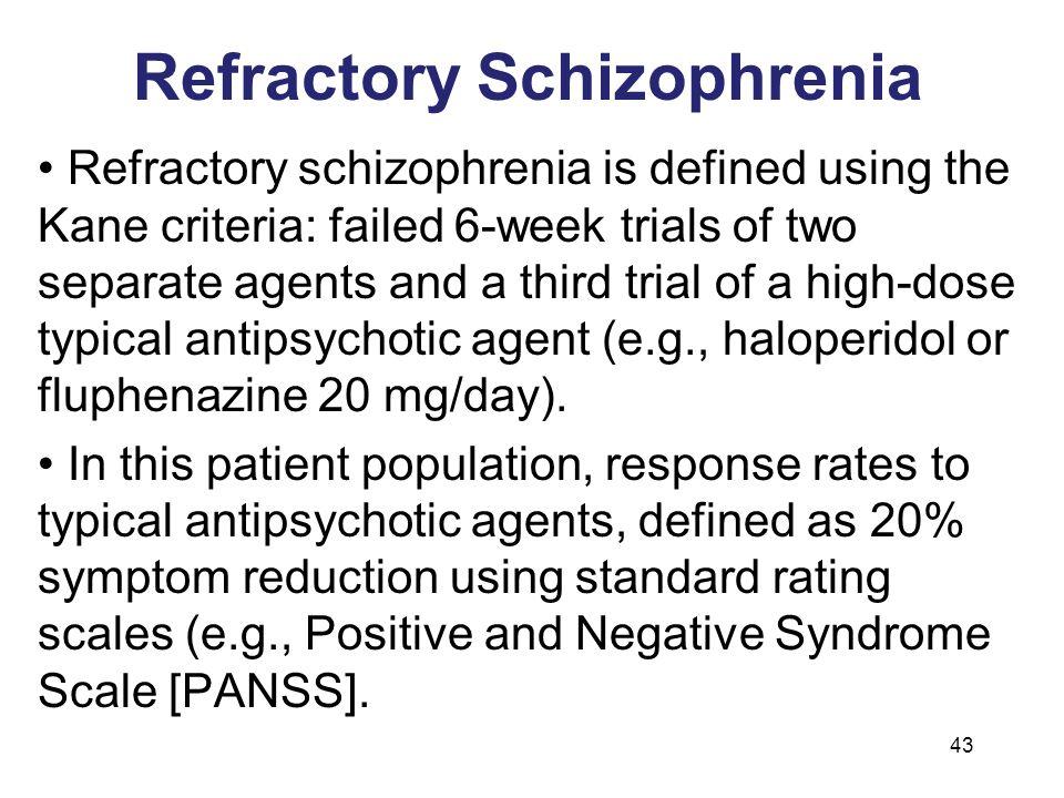 Refractory Schizophrenia