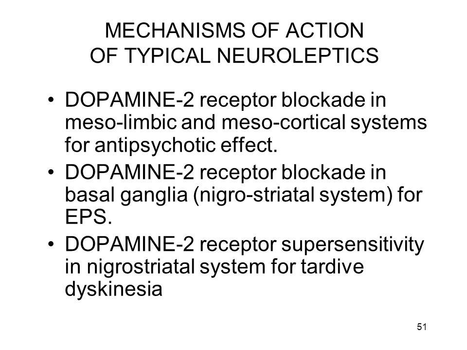 MECHANISMS OF ACTION OF TYPICAL NEUROLEPTICS