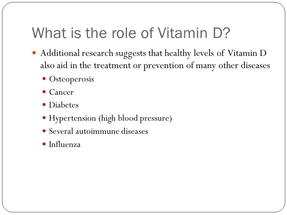 What is the role of Vitamin D