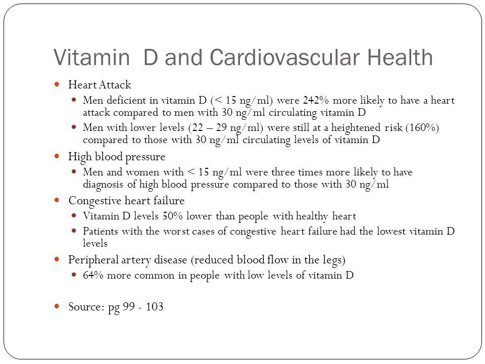 Vitamin D and Cardiovascular Health