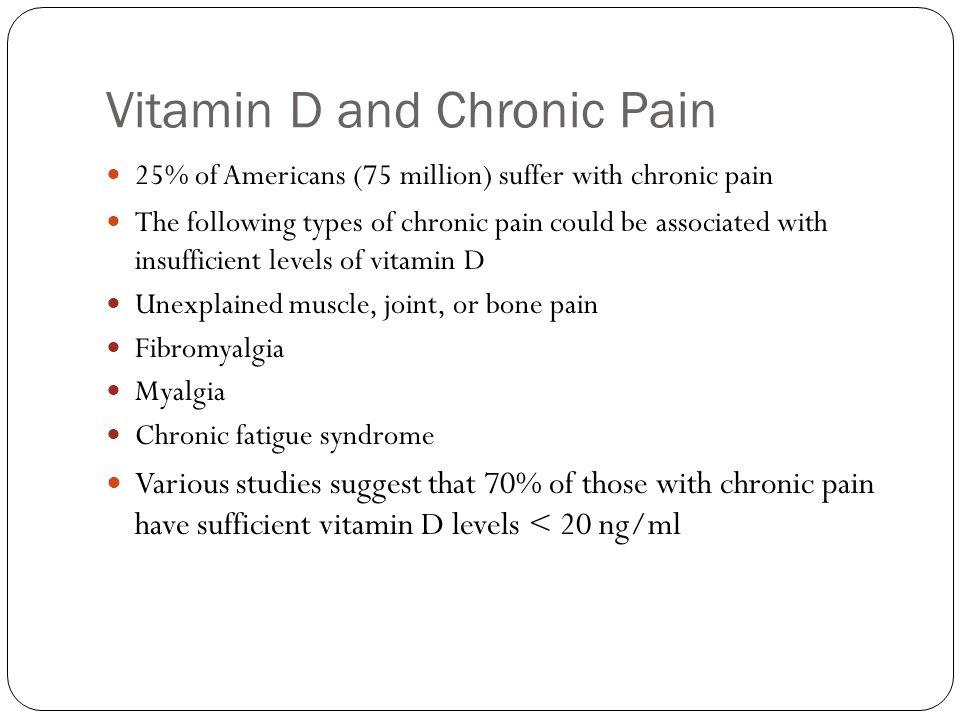 Vitamin D and Chronic Pain