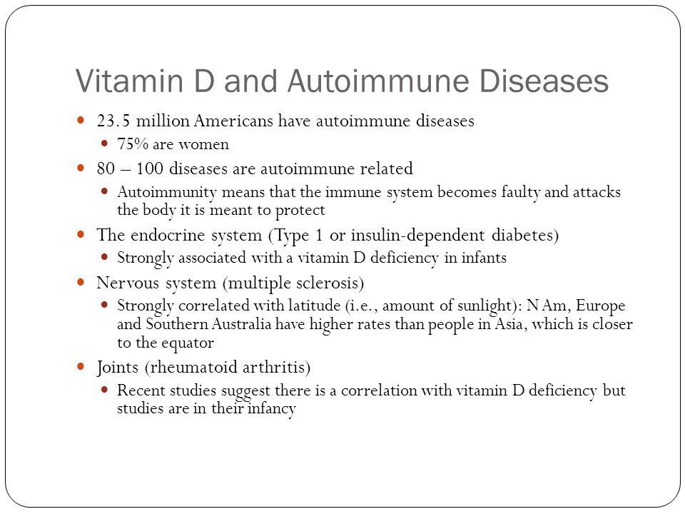 Vitamin D and Autoimmune Diseases