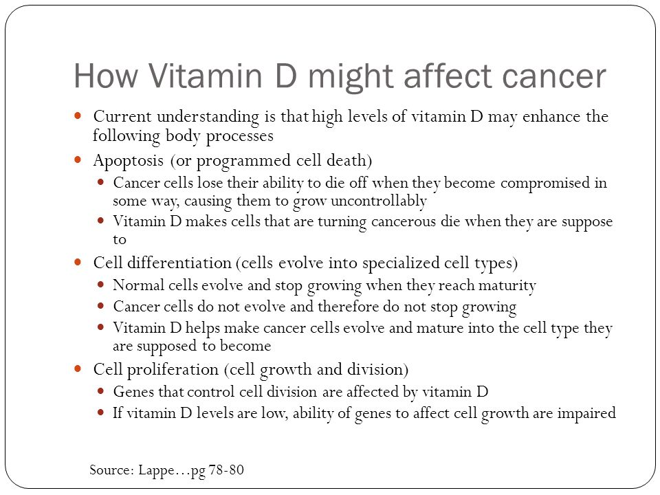 How Vitamin D might affect cancer