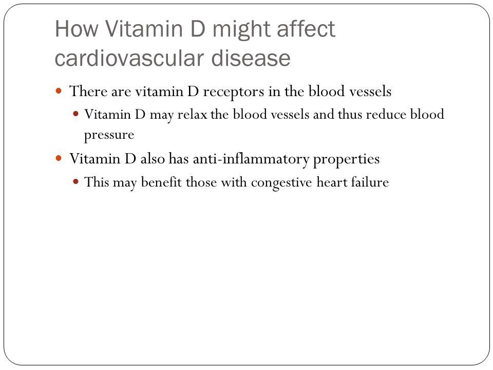 How Vitamin D might affect cardiovascular disease