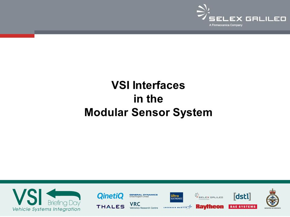 VSI Interfaces in the Modular Sensor System