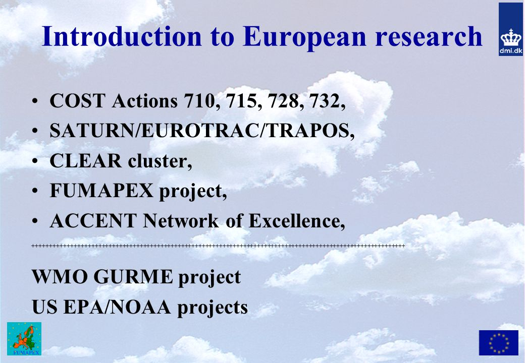Introduction to European research