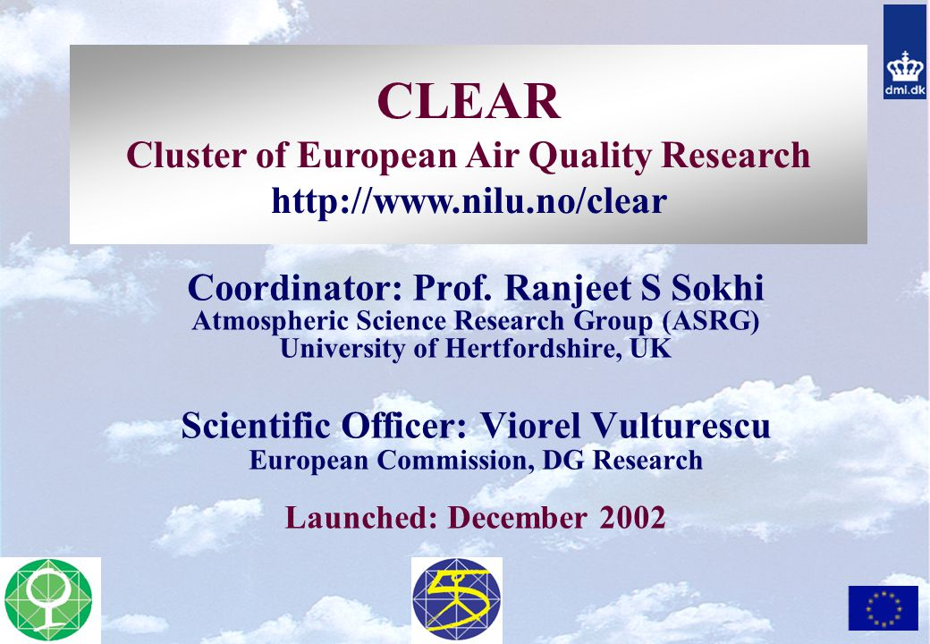 CLEAR Cluster of European Air Quality Research