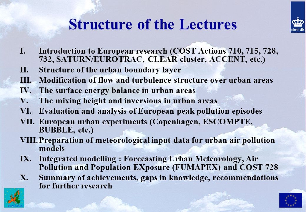 Structure of the Lectures
