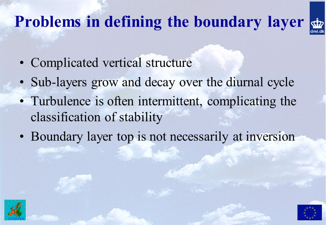 Problems in defining the boundary layer