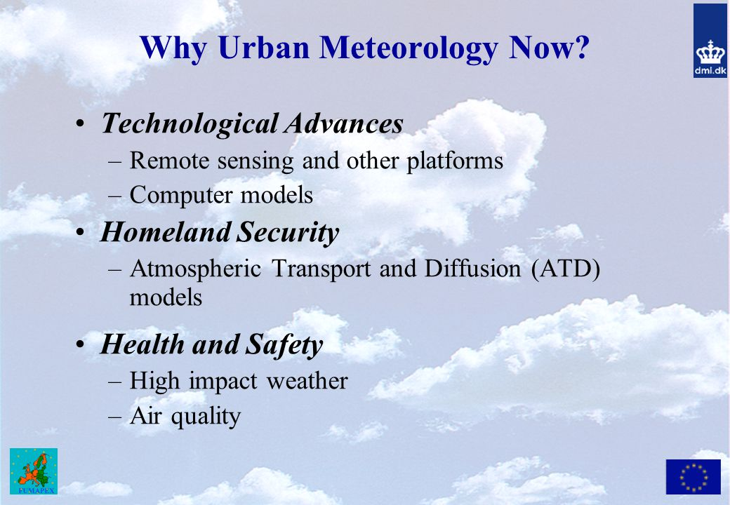 Why Urban Meteorology Now
