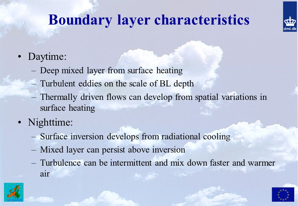 Boundary layer characteristics