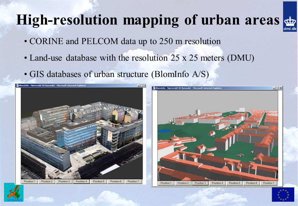High-resolution mapping of urban areas