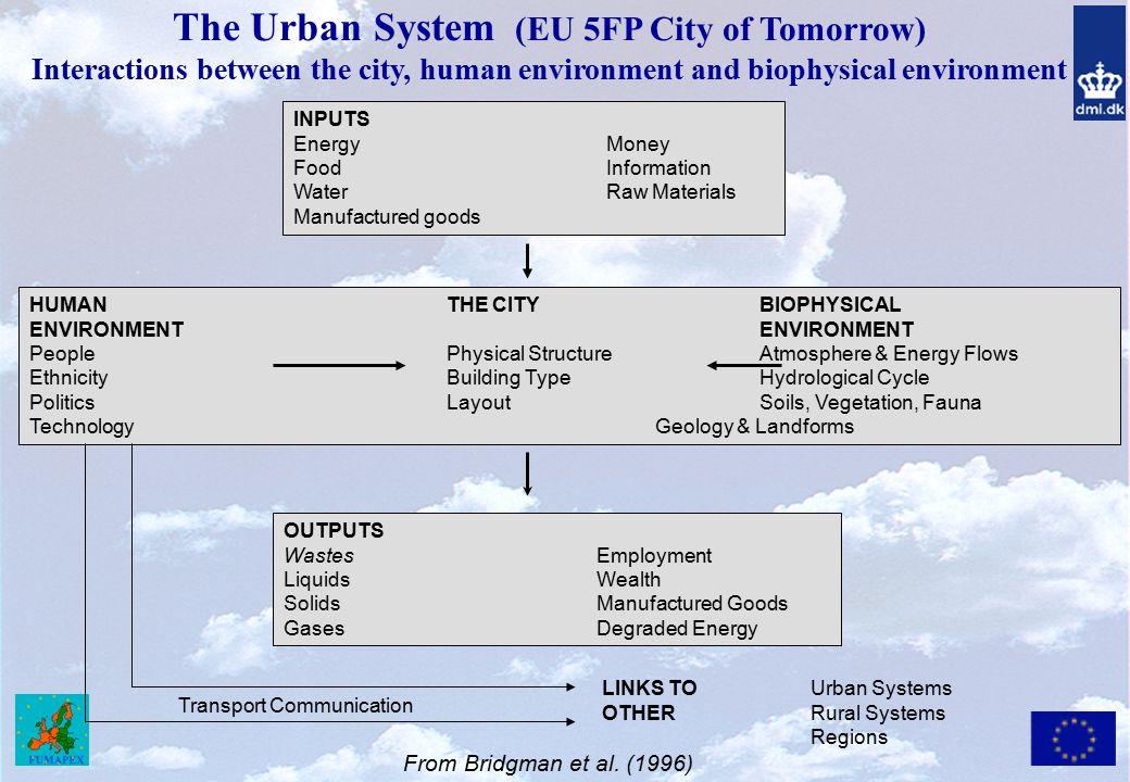 The Urban System (EU 5FP City of Tomorrow)