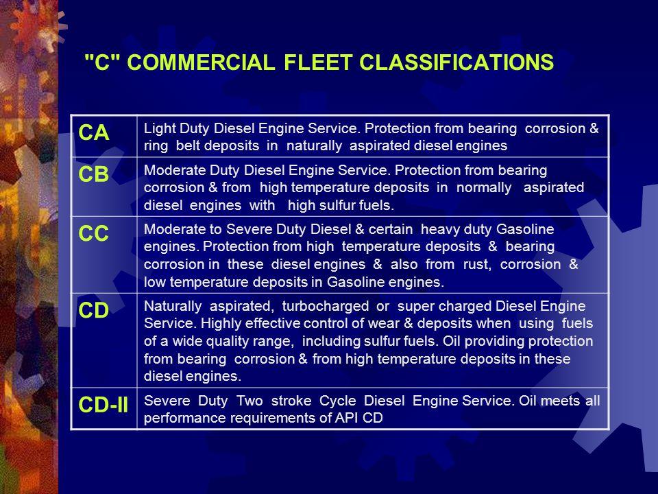 C COMMERCIAL FLEET CLASSIFICATIONS