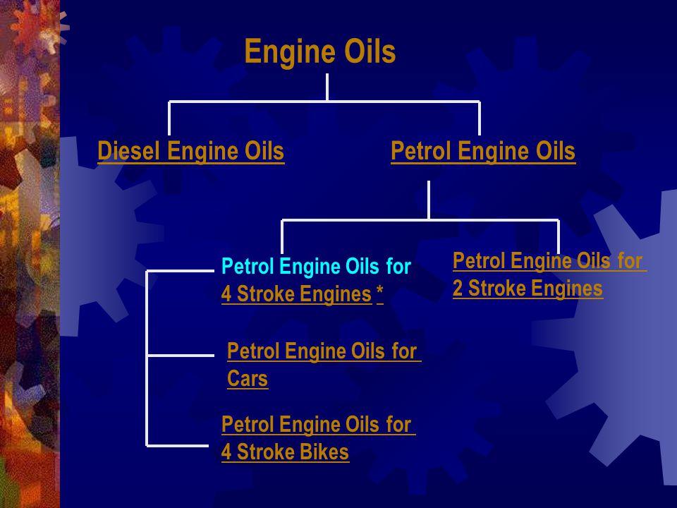 Engine Oils Diesel Engine Oils Petrol Engine Oils