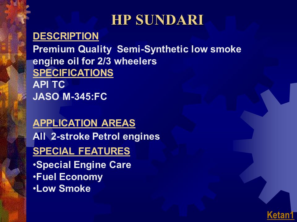 HP SUNDARI DESCRIPTION