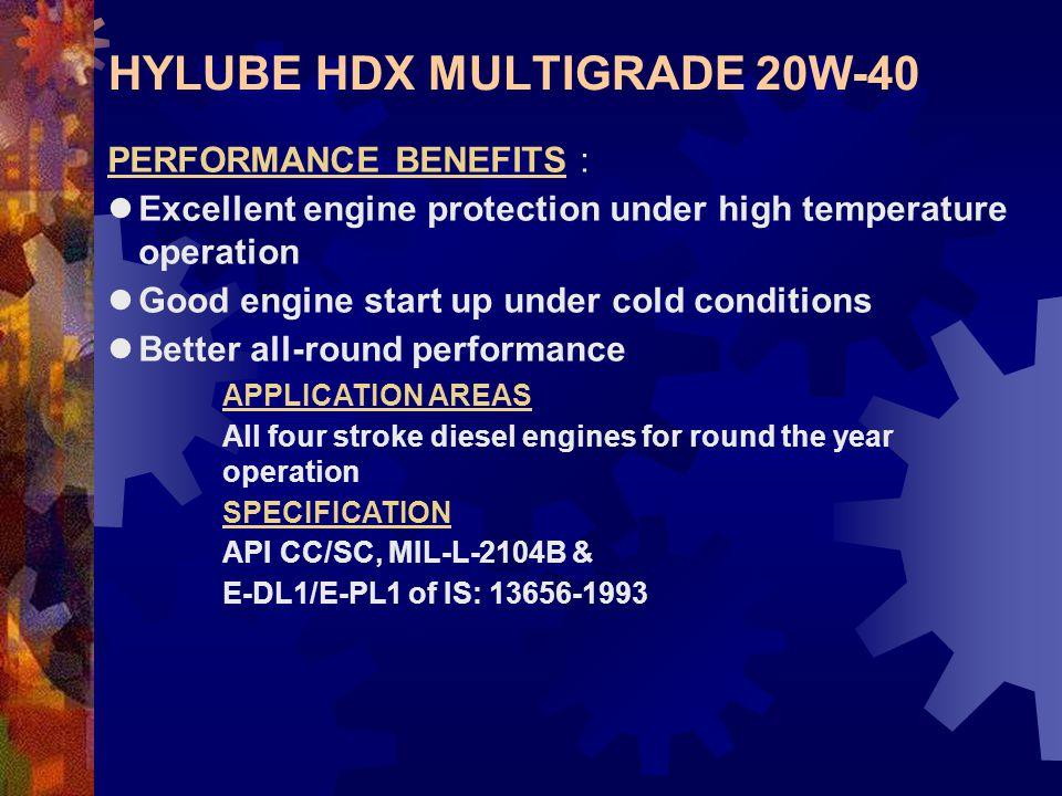 HYLUBE HDX MULTIGRADE 20W-40