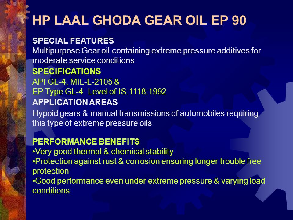 HP LAAL GHODA GEAR OIL EP 90