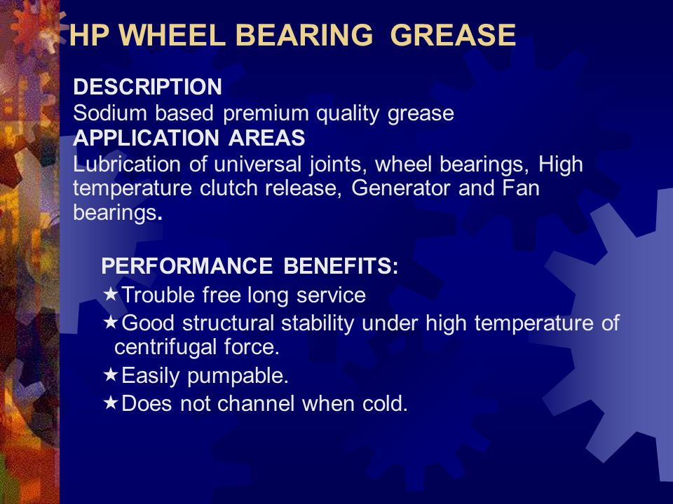 HP WHEEL BEARING GREASE