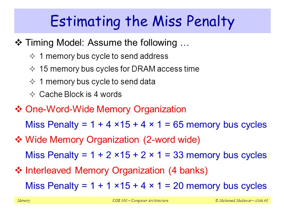 Estimating the Miss Penalty