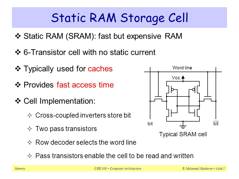 Static RAM Storage Cell