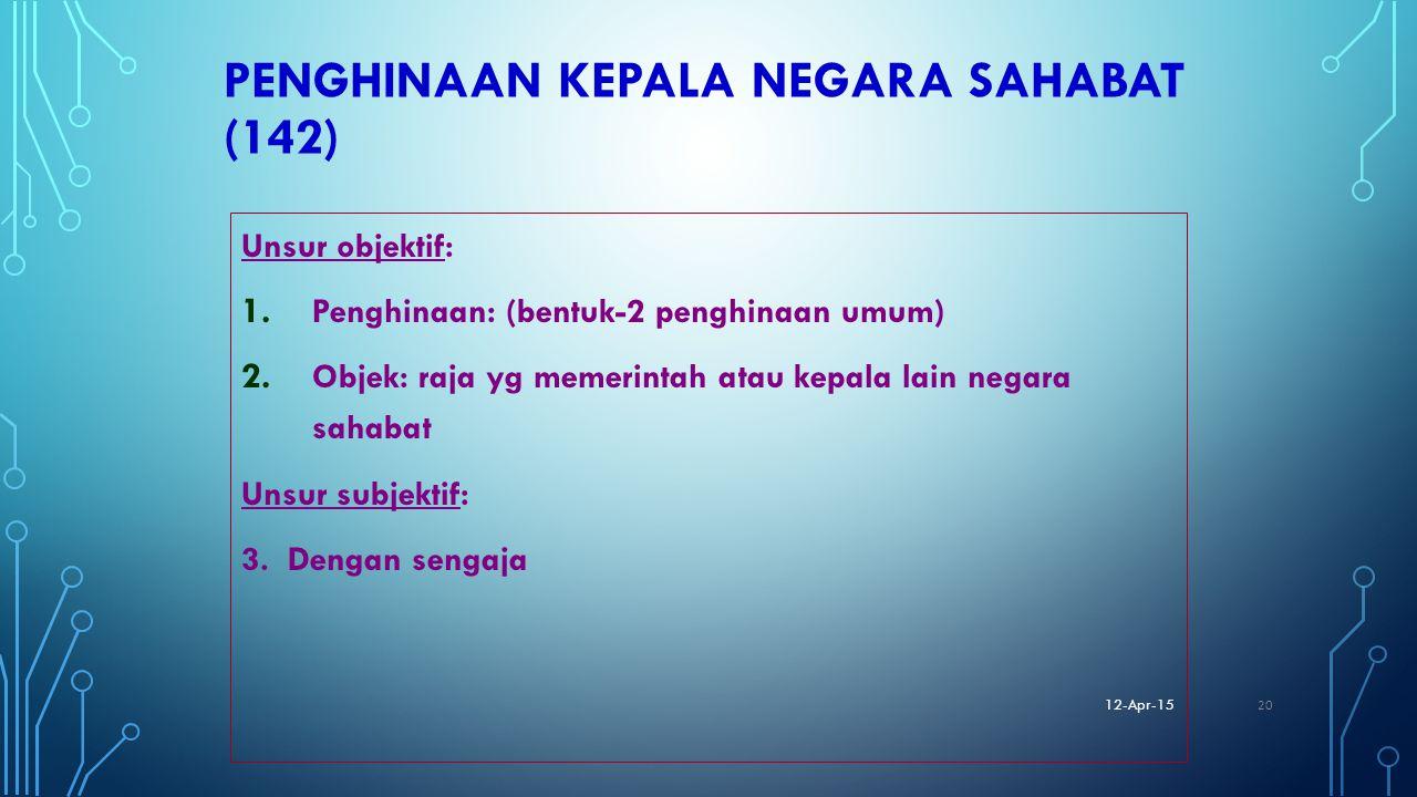 PENGHINAAN KEPALA NEGARA SAHABAT (142)