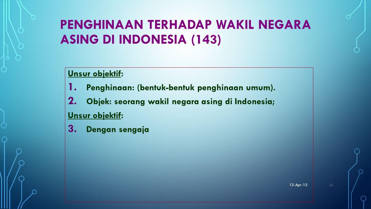 Penghinaan terhadap wakil negara asing di Indonesia (143)