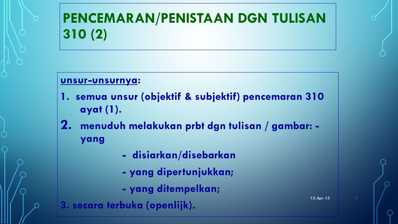 PENCEMARAN/PENISTAAN DGN TULISAN 310 (2)