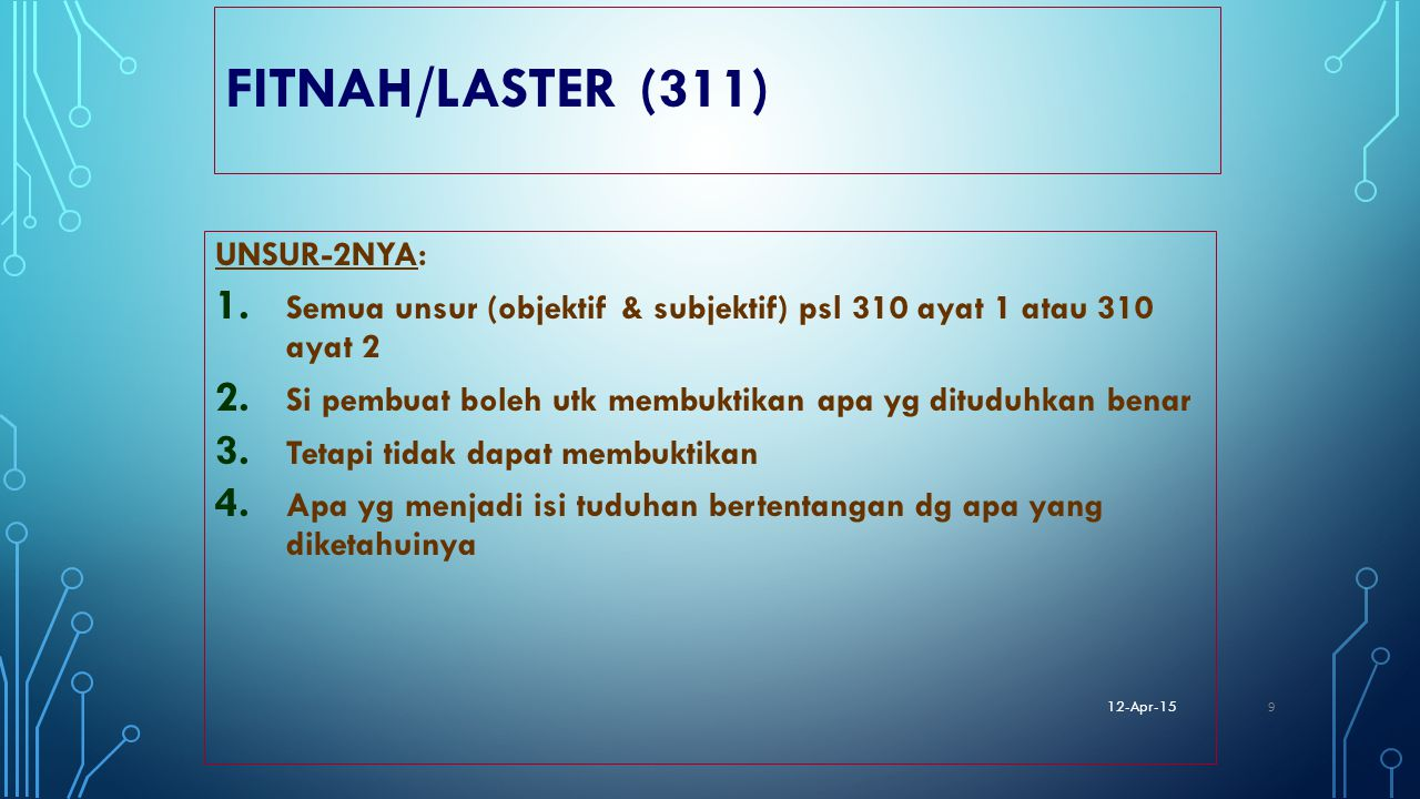 FITNAH/LASTER (311) UNSUR-2NYA: