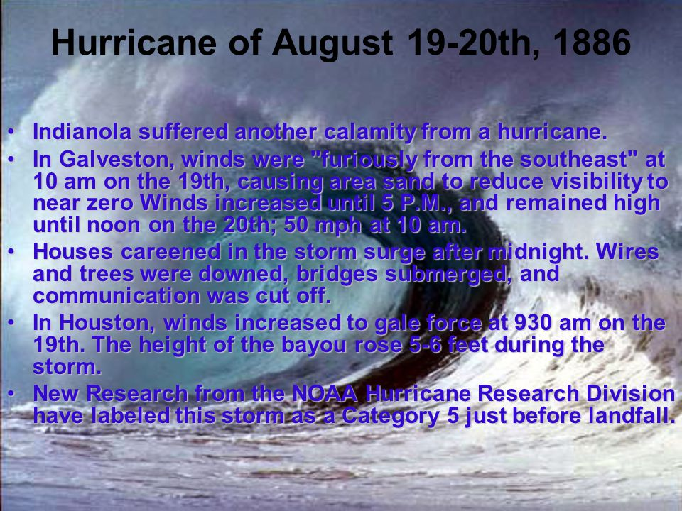 Hurricane of August 19-20th, 1886