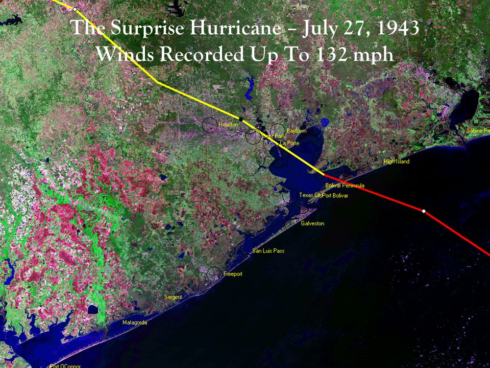 The Surprise Hurricane – July 27, 1943 Winds Recorded Up To 132 mph