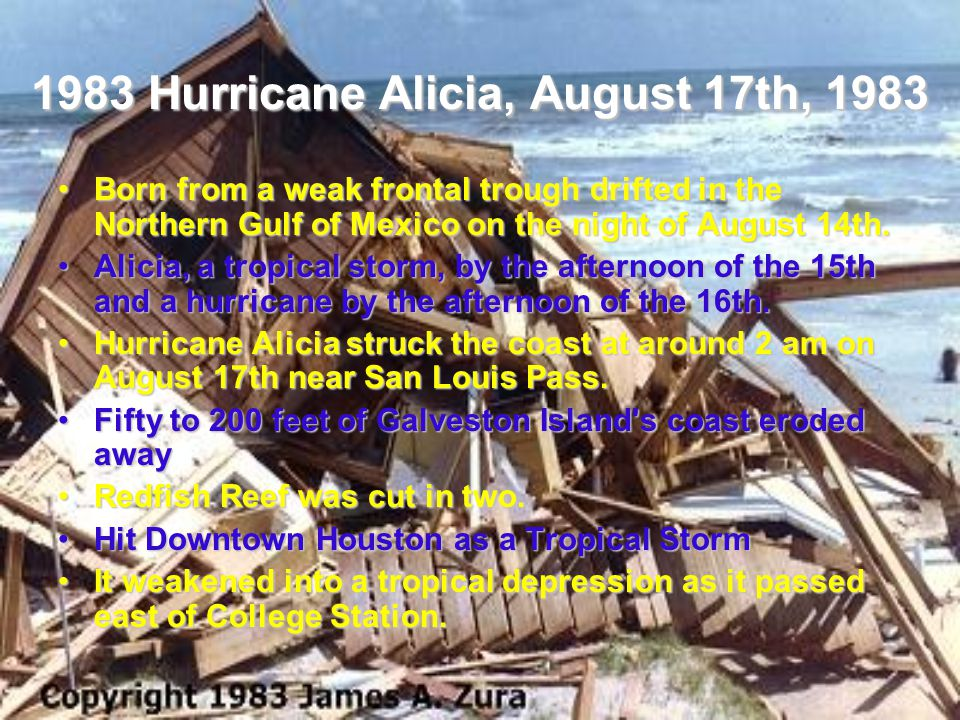1983 Hurricane Alicia, August 17th, 1983