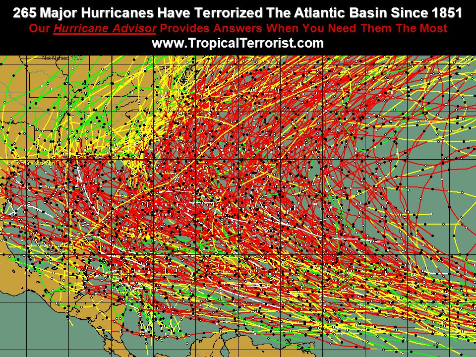 265 Major Hurricanes Have Terrorized The Atlantic Basin Since 1851