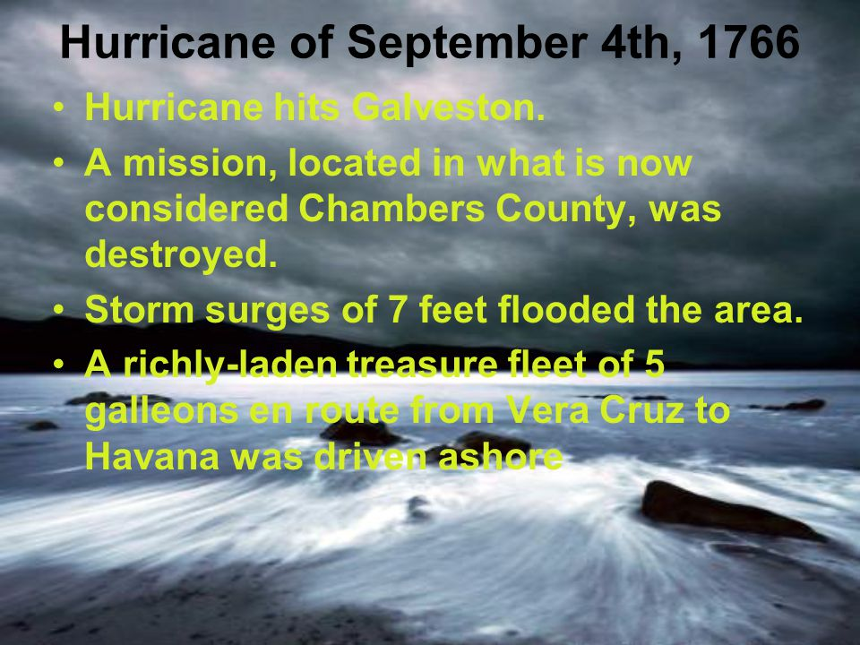 Hurricane of September 4th, 1766