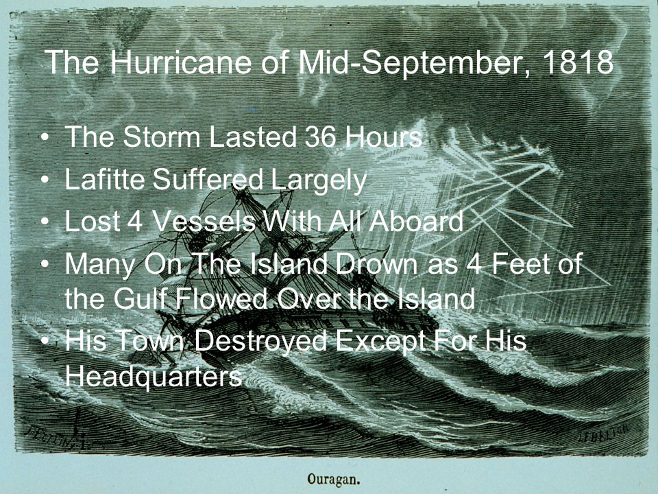 The Hurricane of Mid-September, 1818